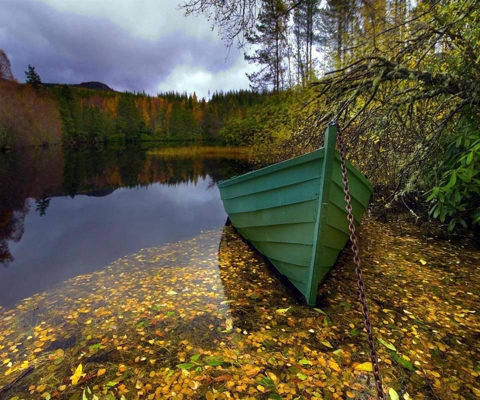 Morning Lake Boat