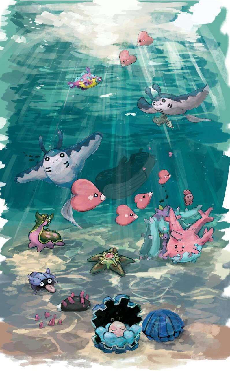 pokemon ocean scene wallpaper by bizzmarkie91 cc free on zedge