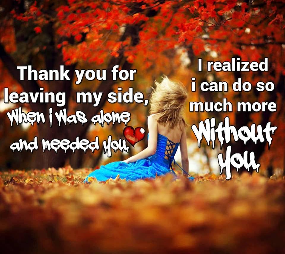 leaving my side