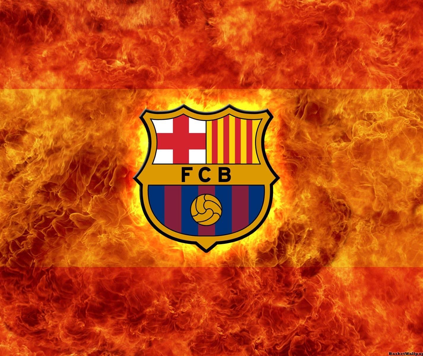 Fc Barcelona On Fire