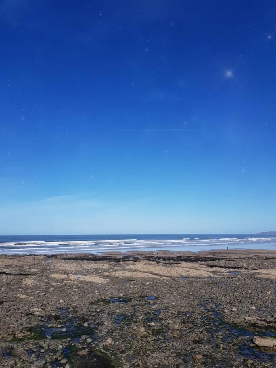 Starlit beach