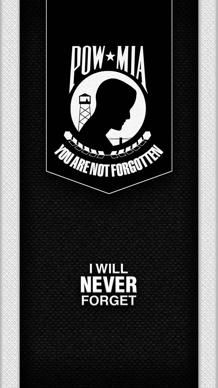 POW-MIA NEVER FORGET