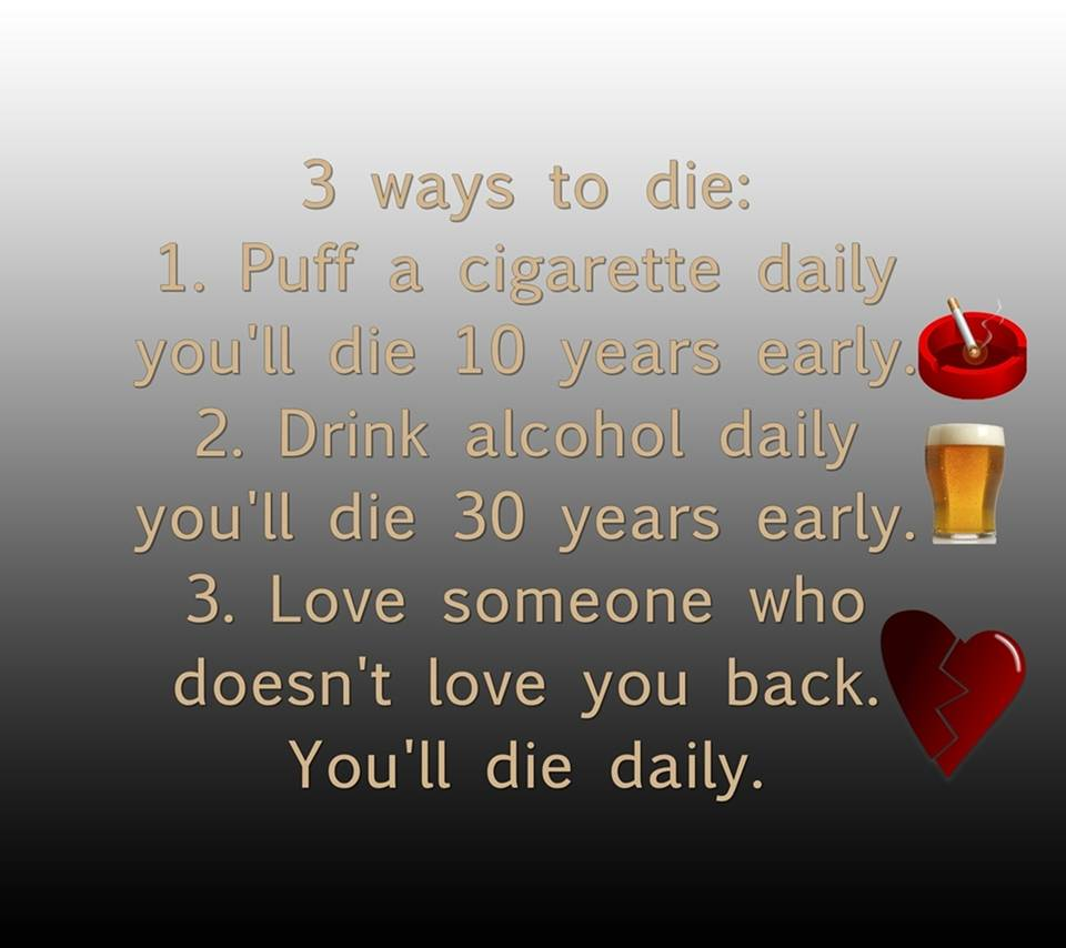 3 ways to die