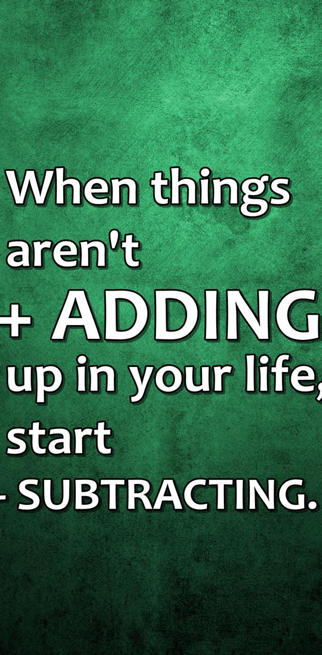 adding subtracting