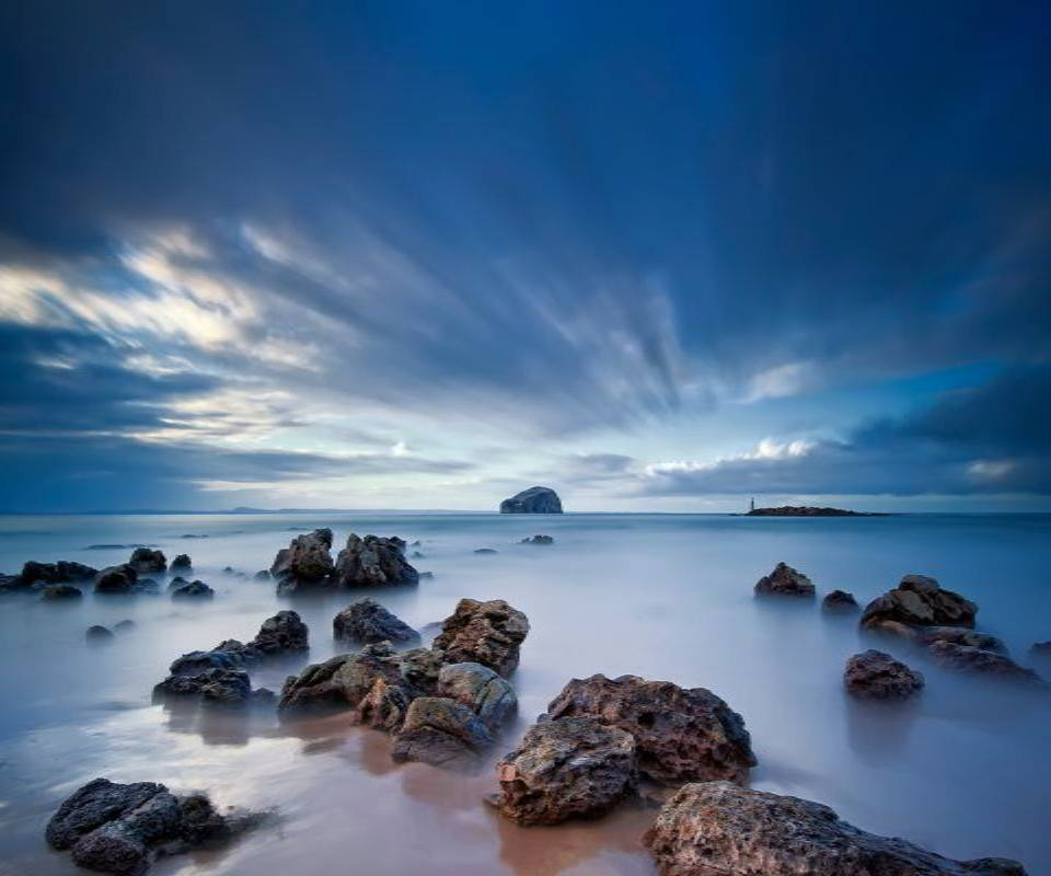 Beach Stones Sky