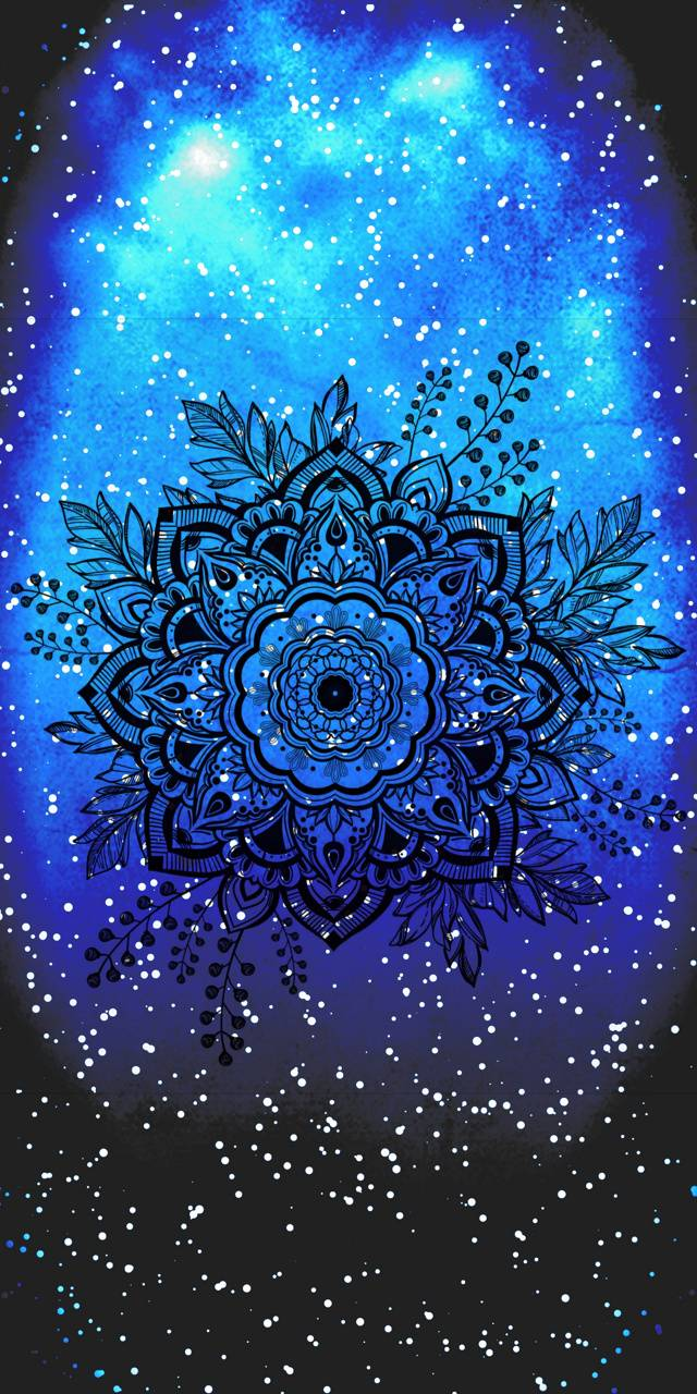 Mandala snow flower