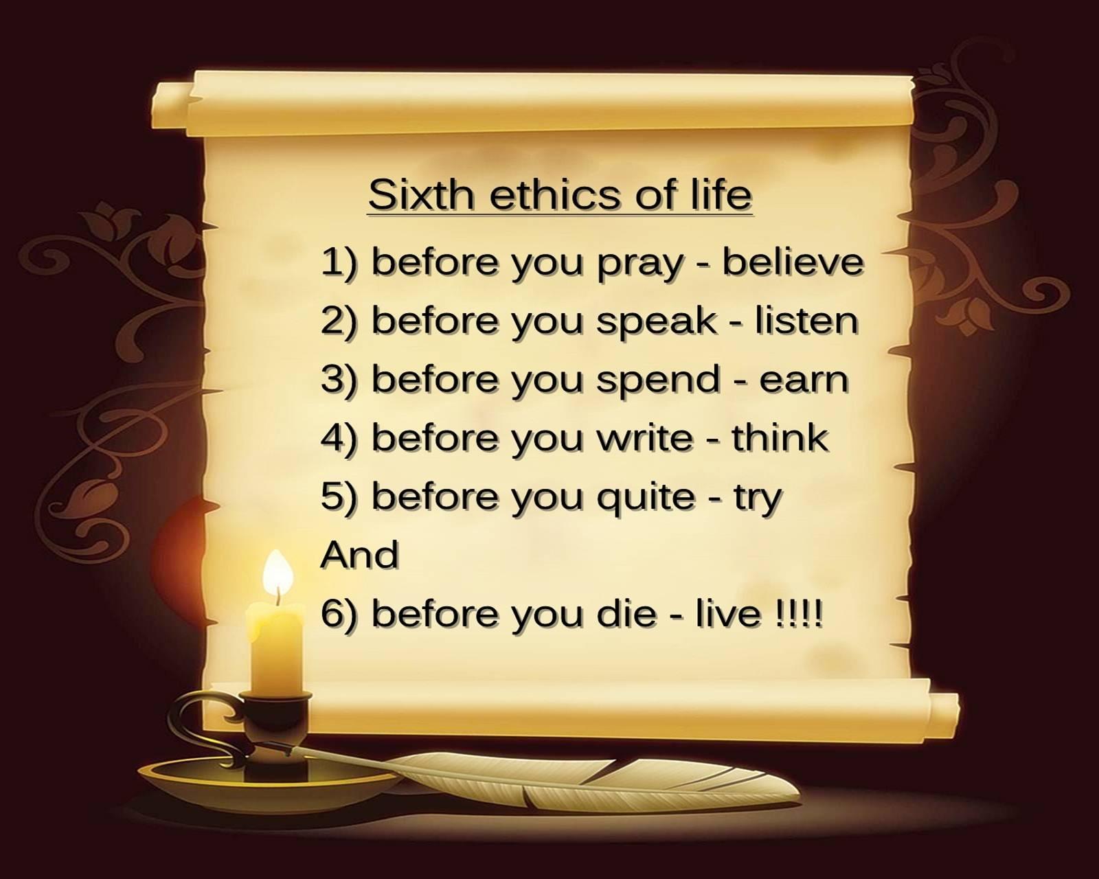 Ethics Of Life