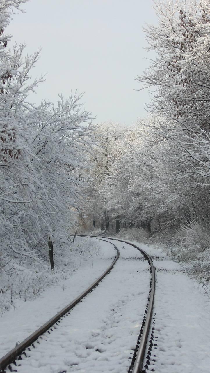 snow railroad