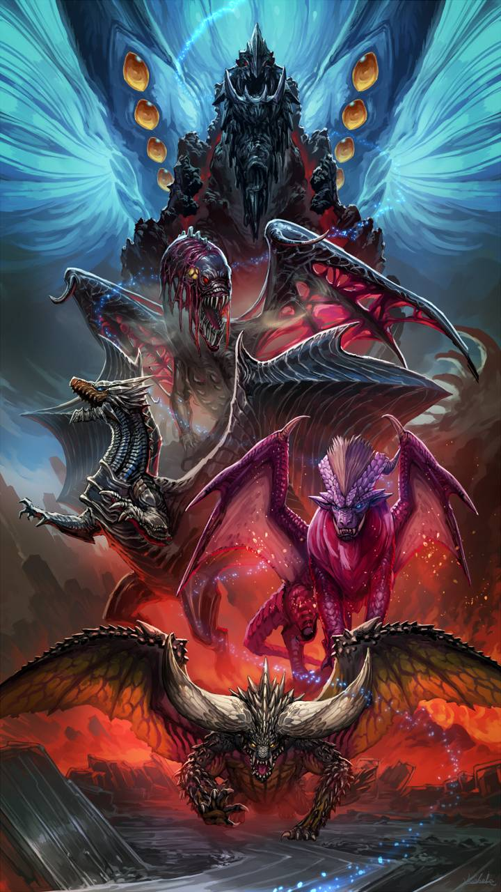 Mhw Elder Dragons Wallpaper By Cycl0n3cat 8c Free On Zedge