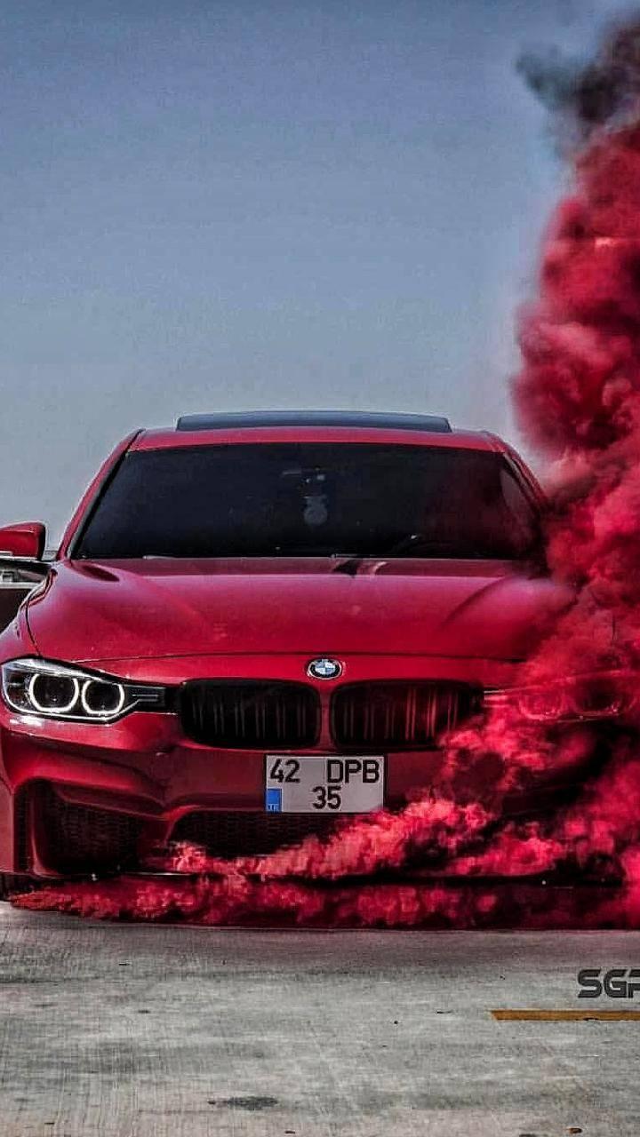 Bmw car red