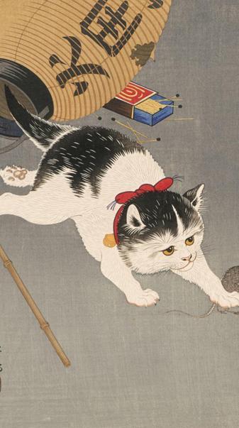 Japanese art Cat