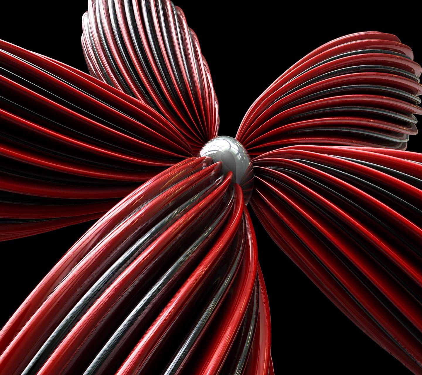 Red abstract Flower