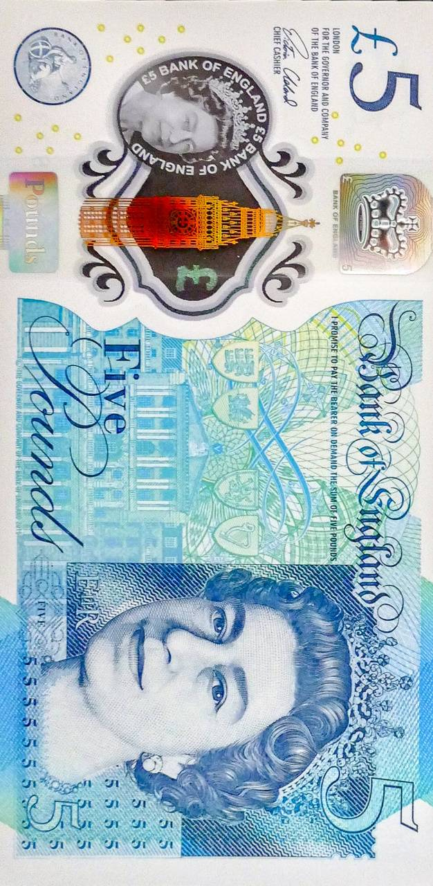 Money 5 Pound Note