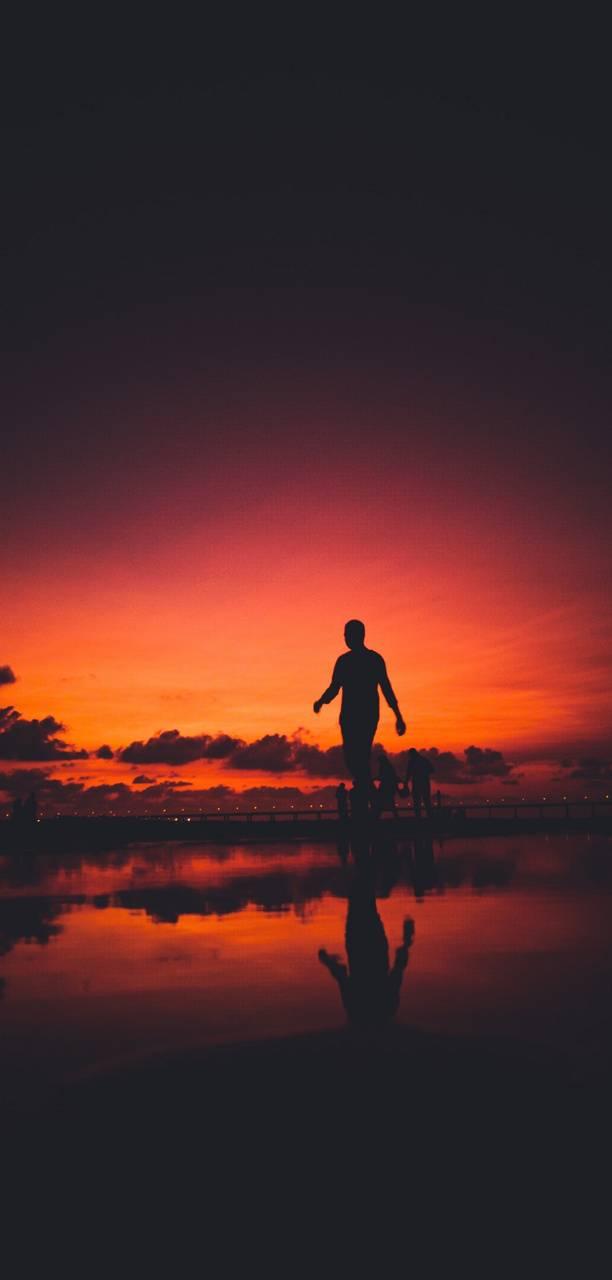 Alone Sunset