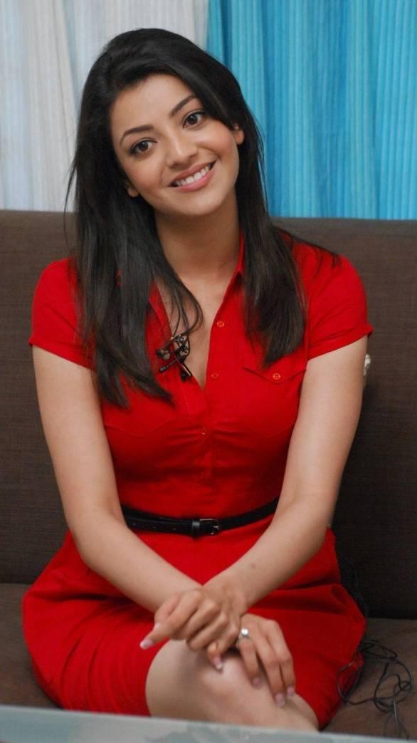 Kajal With Red Skirt