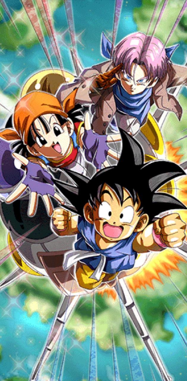 Goku Pan and Trunks