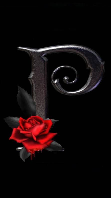 Letter P Rose