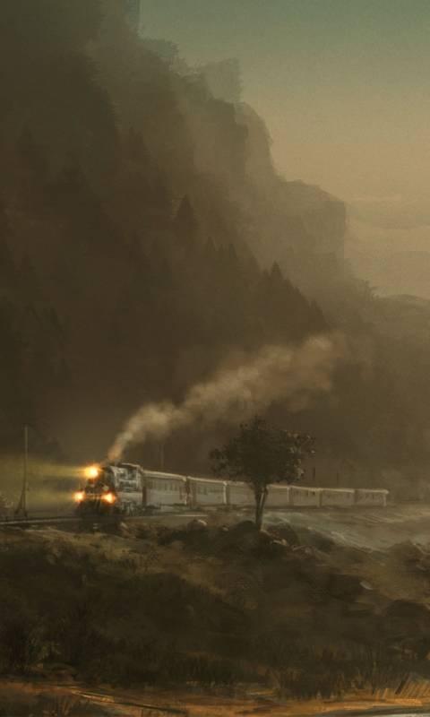 train in foggyland