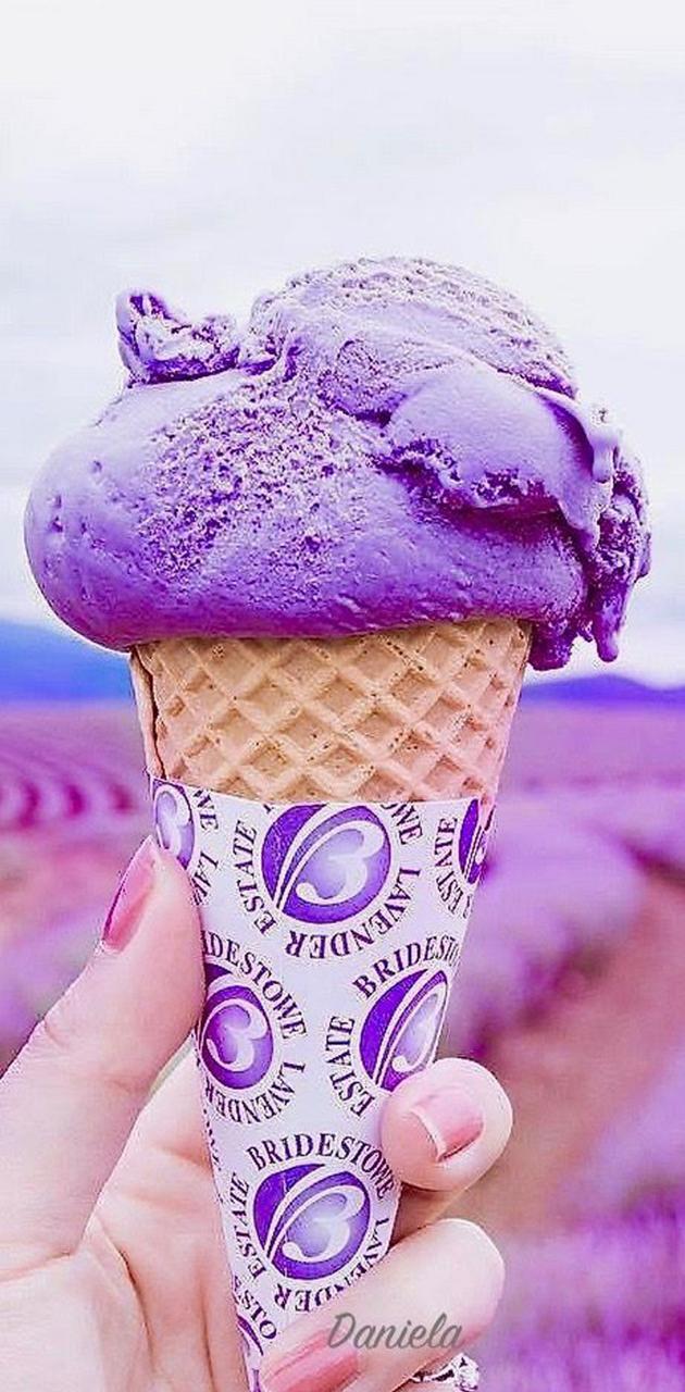 ice cream purple