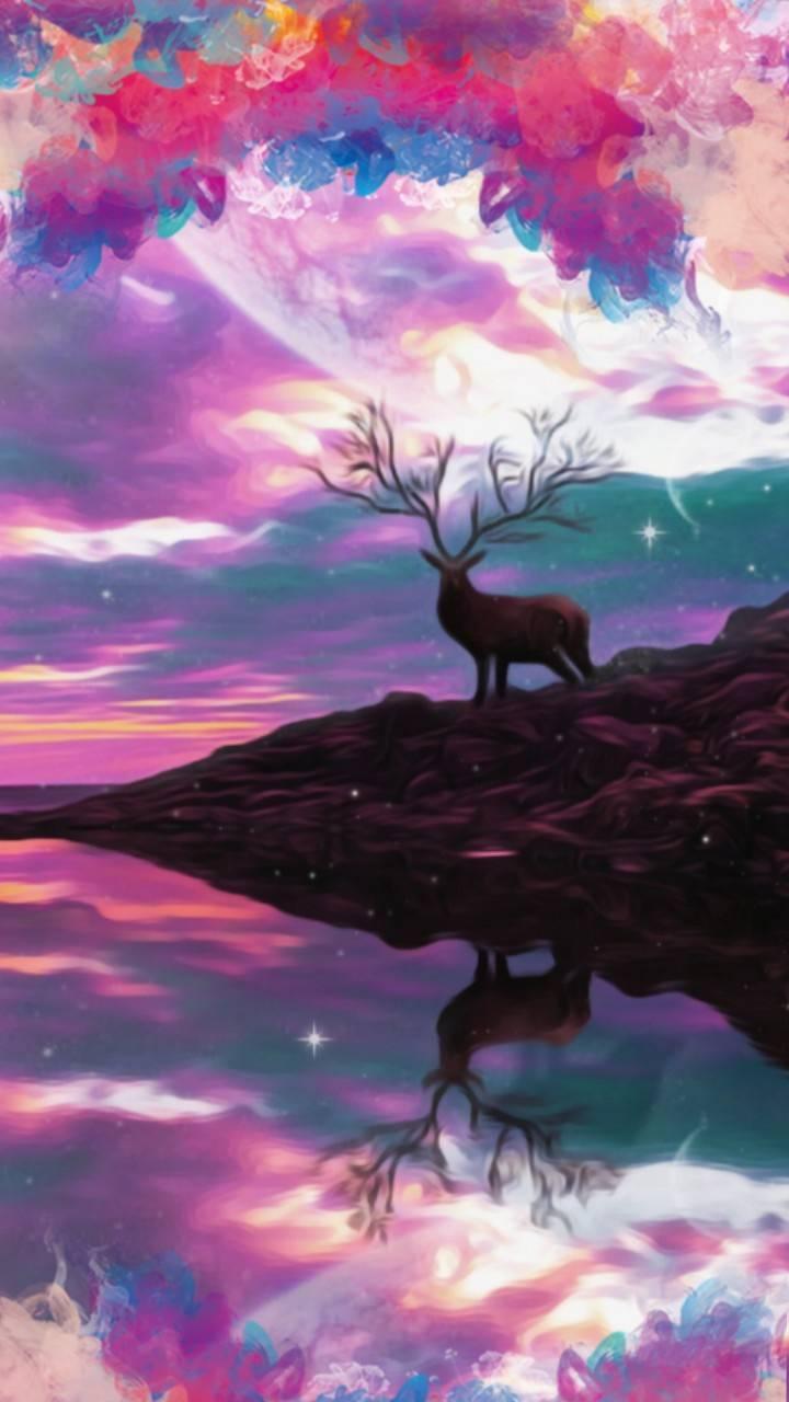 Deer n clouds