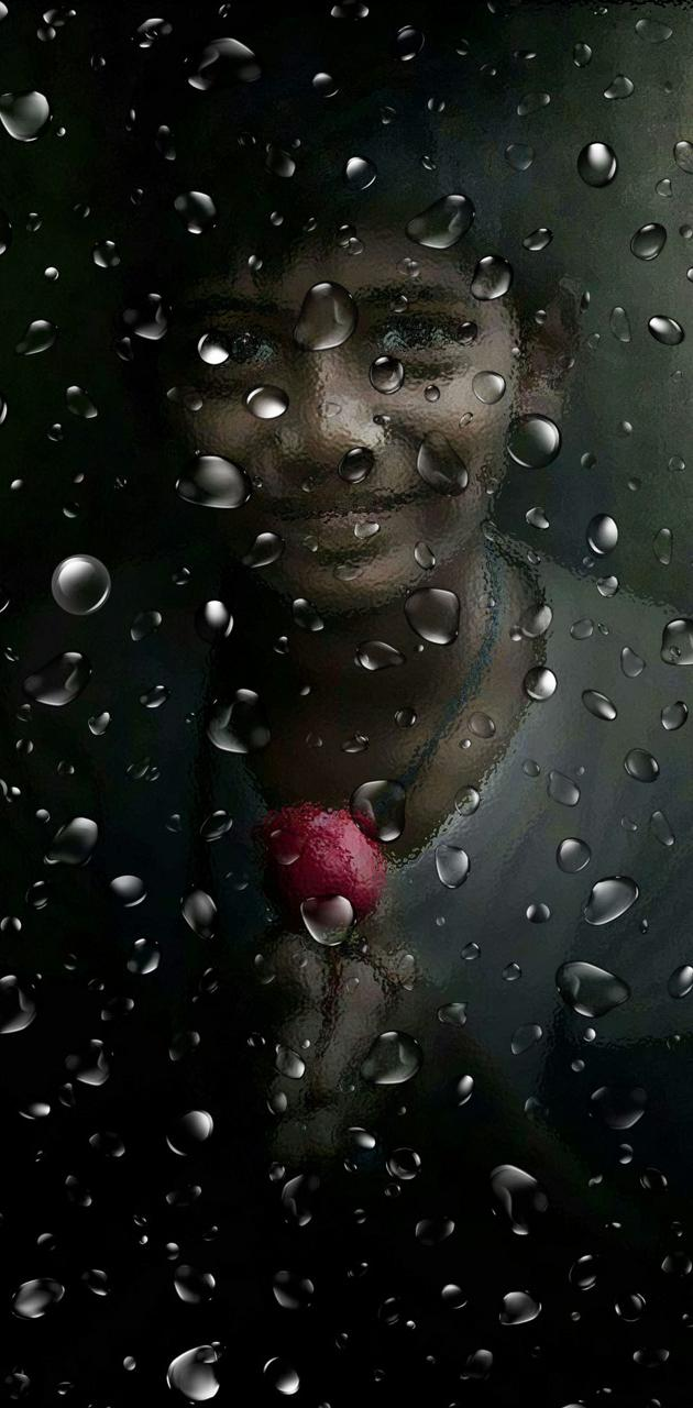 little boy with rose