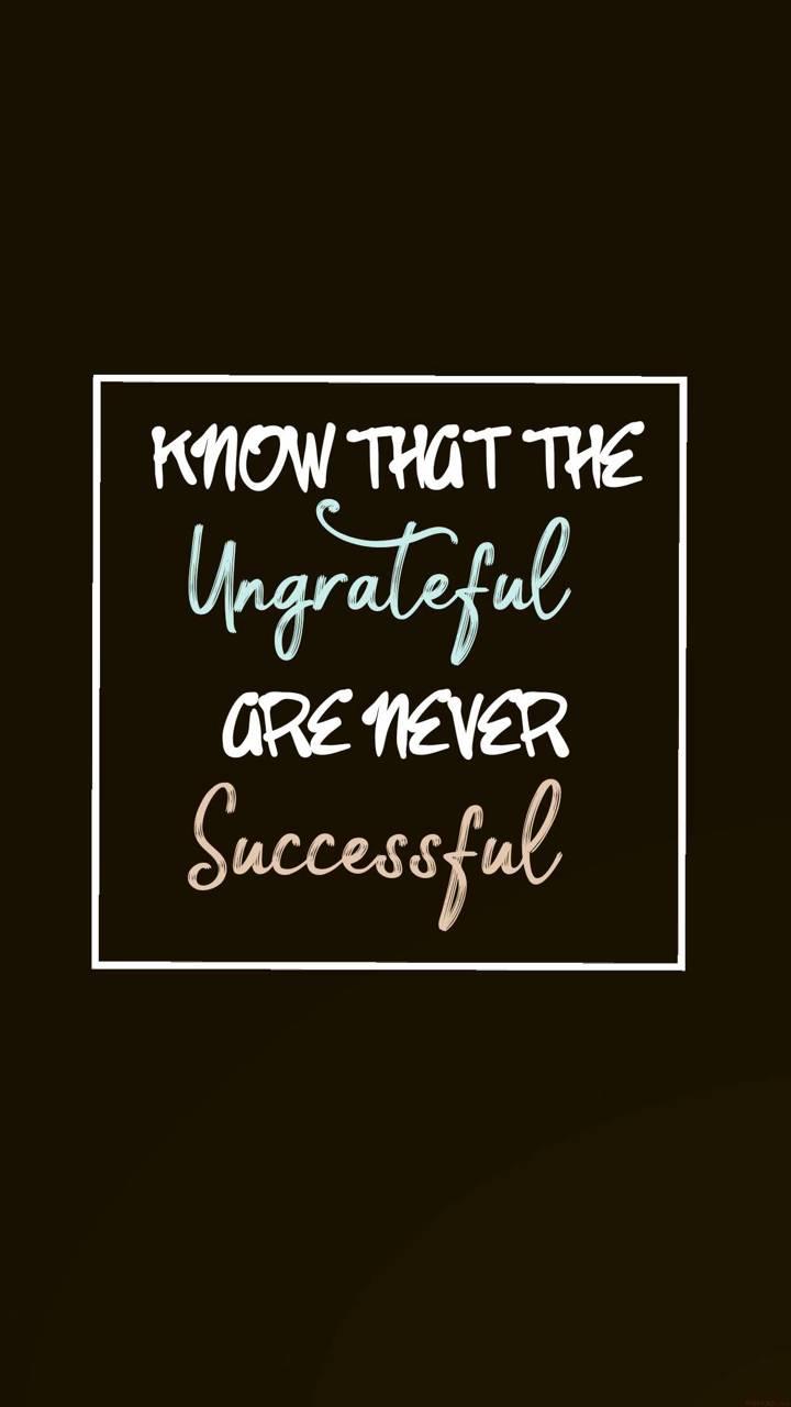 Ungrate Success
