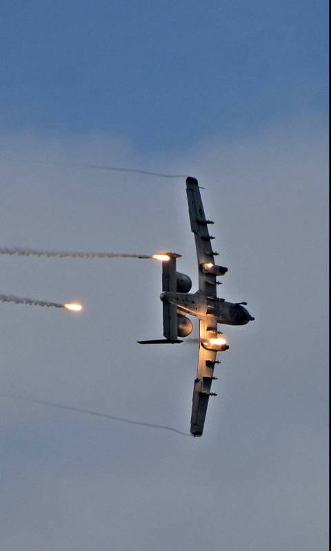 A-10 Dropping Flares