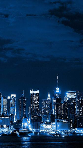 Blue Neon City