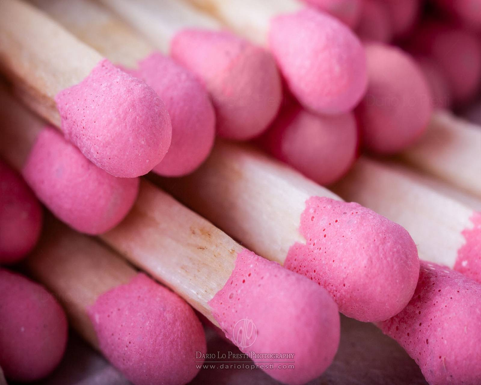Pink match stick