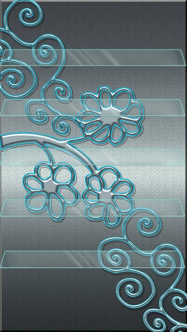 Metal Flower Shelves