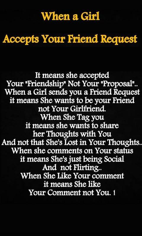 When a girl accepts