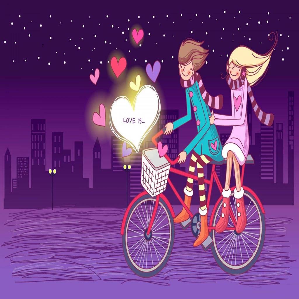 Couple Cartoon Love