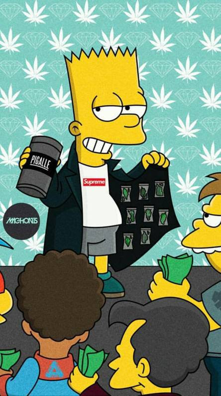 Bart Simpson Supreme Wallpaper Djiwallpaper Co