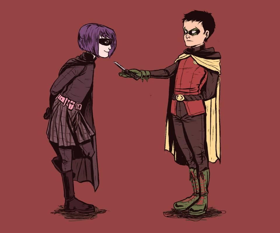 Hit Girl Meets Robin