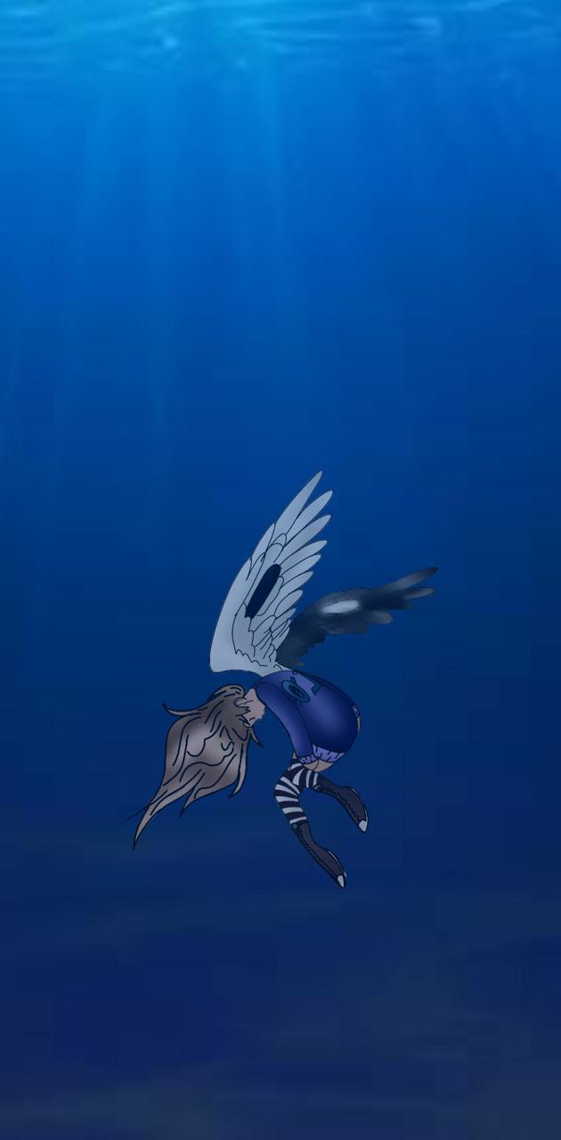 Yuki in the ocean