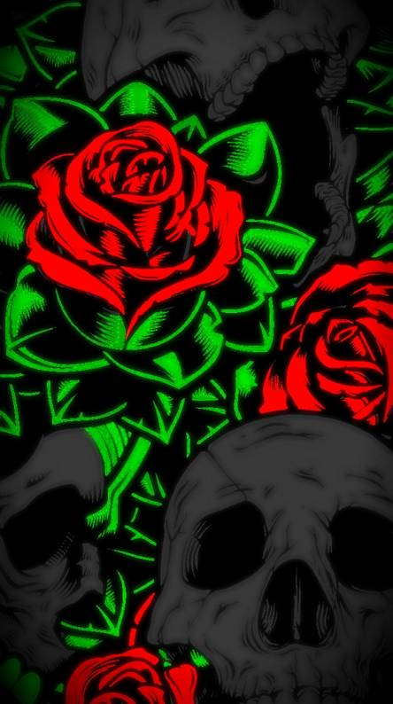 Skull N Rose Ringtones And Wallpapers Free By Zedge