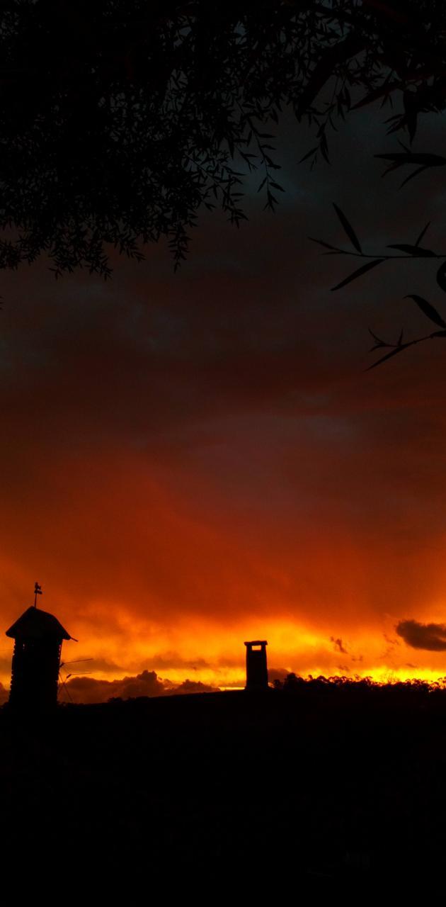 Cielo en llamas