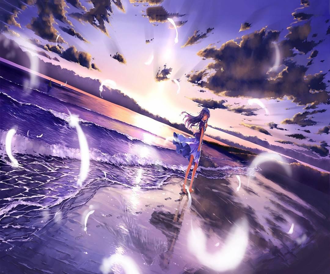 Anime Beach Wallpaper By Nellaflegna 84 Free On Zedge
