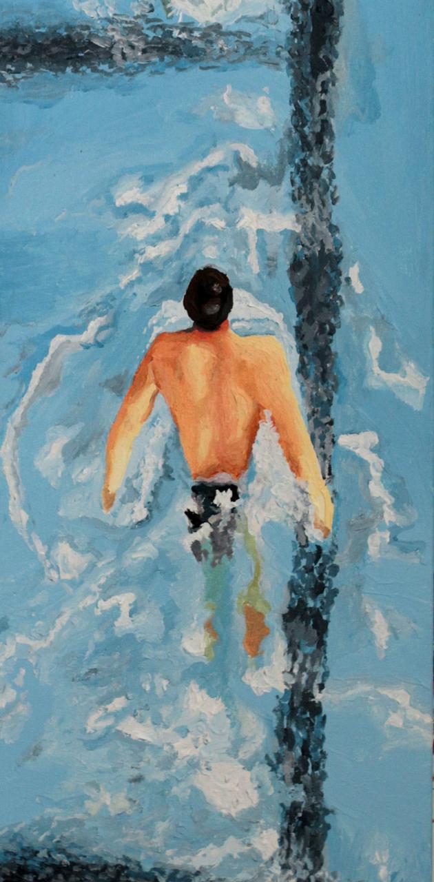 swimmer swimming art