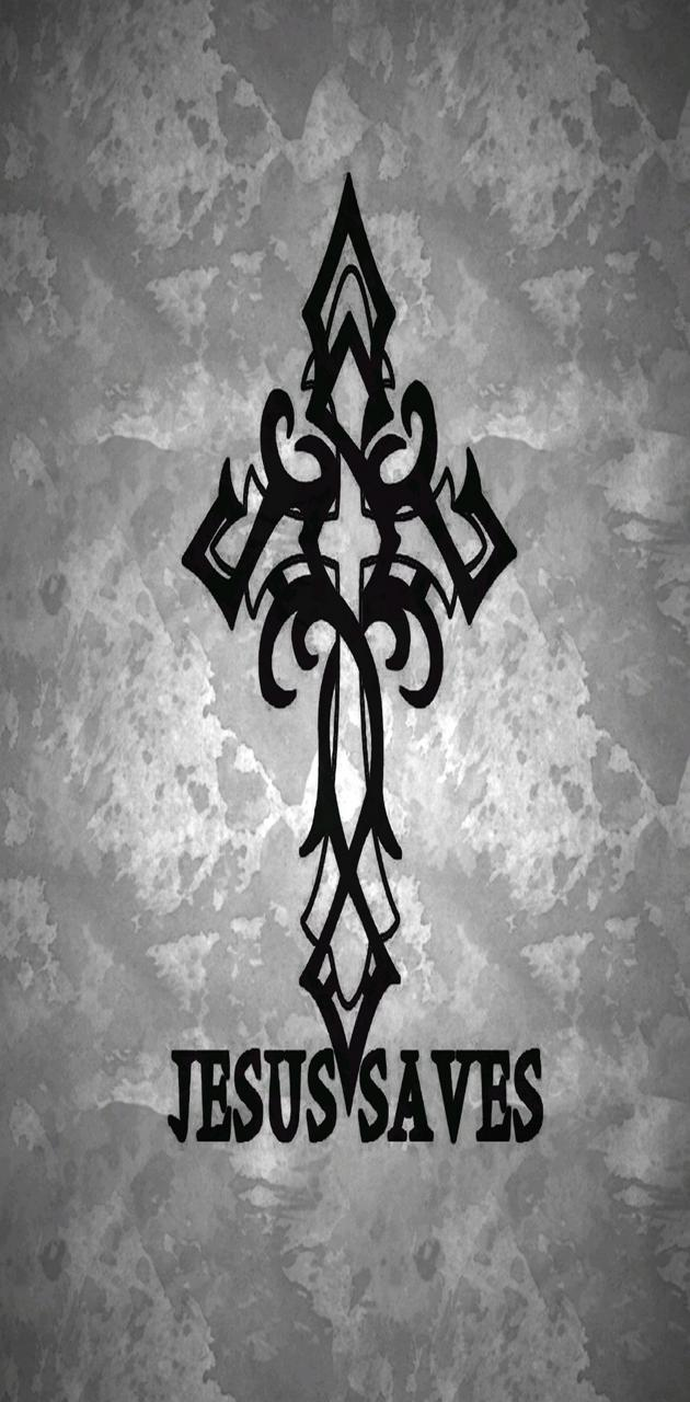 Jesus Cross Gray
