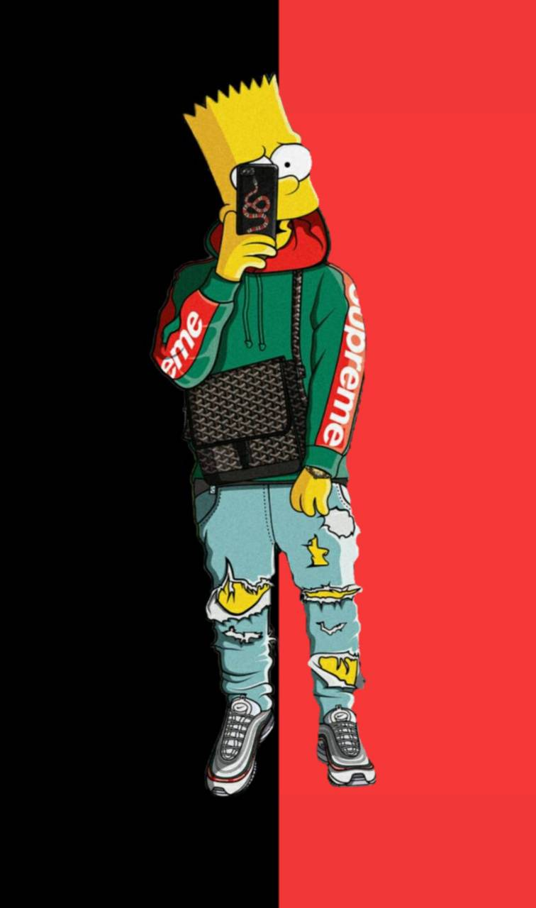 Supreme Bart Wallpaper By Pdisorder F8 Free On Zedge