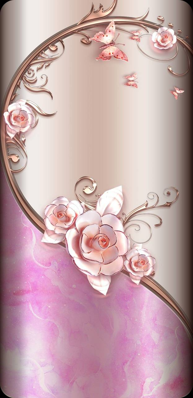 Rose Gold Roses Wallpaper By Nikkifrohloff 9c Free On Zedge