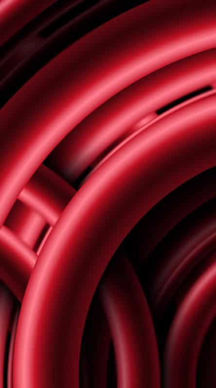 Red 3d Rings