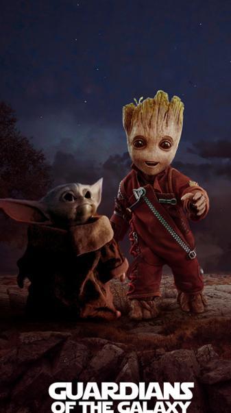 Yoda and Groot