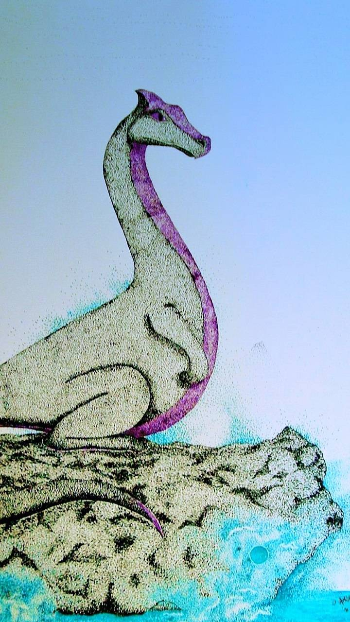 Dragon Stippled Art