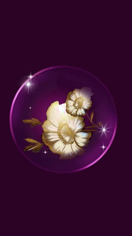 Gold White Flower 3