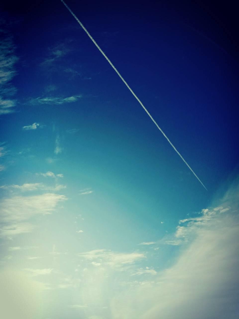 line over sky