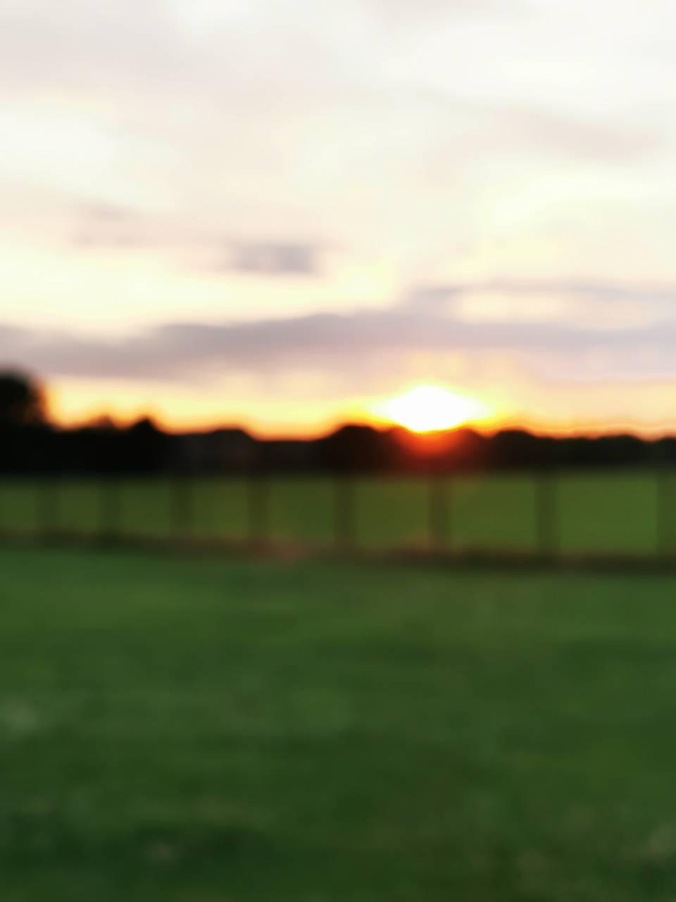 Blurry sunset