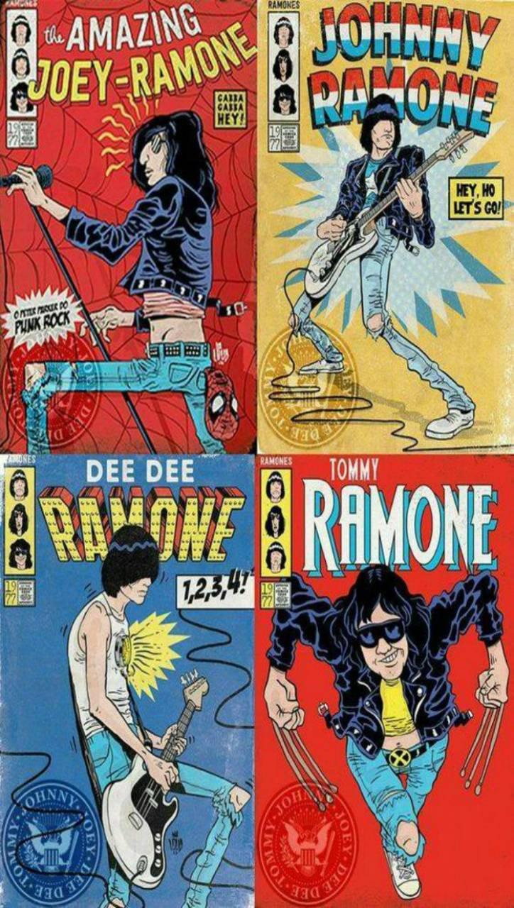 Ramones super heroes