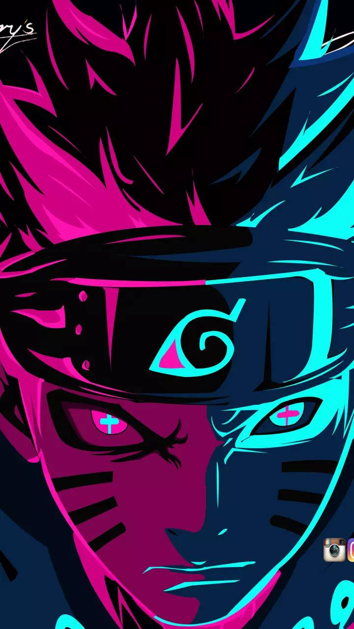 Naruto pink blue wallpaper by